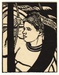Erich Heckel: Seefahrer, Holzschnitt, 1942 (verso: Autograph des Künstlers)