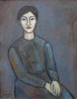 Portrait Kluge Rote, Öl/LW, 2001/08