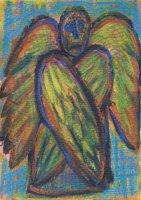 Vierflügeliger Engel, Aquarell, Kreiden, 2008