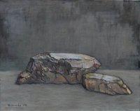 Zwei Steine, Öl/LW, 2008
