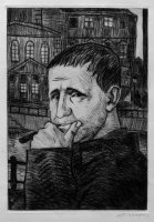 Bertolt Brecht, Radierung