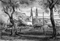 Am Gardasee, Zeichnung, Pinsel, Feder/Tusche
