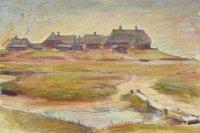 Nordfriesland, Feder/Tusche, Kohle, farbige Kreiden, 1926