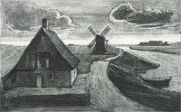 Nordfriesland, Radierung, Aquatinta, 1966