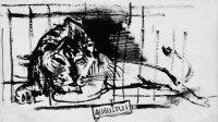 Augustus, Zeichnung, Pinsel/Tusche
