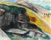 Otto Niemeyer-Holstein: Bosco, farbige Kreiden, 1924, WV 0668