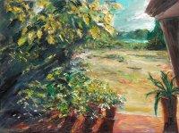 Volker Scharnefsky: Blick zum See, Öl/Lw, 2008