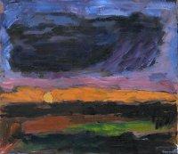 Klaus Roenspieß: Sonnenuntergang, Öl/Lw, 2007