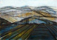 Blaue Landschaft, Mischtechnik, 2001
