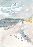 Sandra Rienäcker: Strand (Prerow), Aquarell, 2010