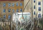 Blick durch den Banzaun, Öl auf Leinwand, 2012, 50 x 70 cm