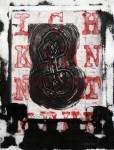 """Ich kann nicht III, überarbeitete Radierung aus der Mappe """"Ich nicht"""", 2012"""