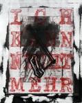 """Ich kann nicht mehr IV, überarbeitete Radierung aus der Mappe """"Ich nicht"""", 2012"""