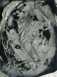Paar in der Brandung, Ahrenshoop, Tuschlavage, 1990