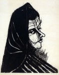Ulrich Knispel: Frauenporträt, Holzschnitt, 1949