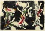 Ulrich Knispel: Komposition, Farbholzschnitt, 1945