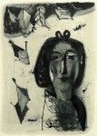 Ulrich Knispel: Walburga Knispel (Ahrenshoop), Monotypie, Pinsel/Tusche,1952