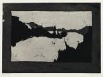 Märkische Abendlandschaft (zu Johannes Bobrowski), Radierung/Aquatinta, 1979