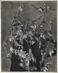 Misteln in dunklem Gefäß, Radierung, 1980