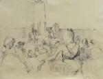 Zuschauer im tip, Zeichnung, Bleistift, 1989