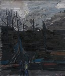 Hommage à Caspar David Friedrich, Öl/Leinwand, 1989
