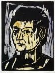 Kopf G., Farbholzschnitt, 1983