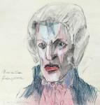 Maximilien Robespierre, Bleistift, Farbstift, Pastell, 2012