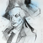 aus der Folge: Sanssouci, Bleistift, Farbstift, Farbspray, 2012