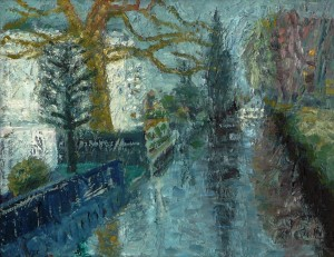 Kanal zum Feenteich (Alsterspaziergang VIII), Öl/Leinwand, 2014