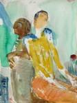 Alt und Jung, Graphit, Aquarell, 1990
