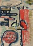 Am Fluß, Tusche, Aquarell, 1992
