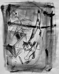 Katze, Lithographie, 1989