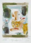Rotwein, Radierung, Aquarell, 1997/98