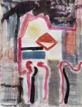 Sarabande, Aquarell, Tusche, Farbstift, 2014