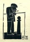 Berliner Angler, Holzschnitt, 1968