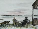 Brecht und Weigel in Buckow, Acryl/Leinwand, 1996