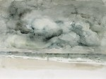 Dunkle Wolken (Prerow), Aquarell, 2014