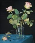Rosen (herausgefallen), Mischtechnik/Sperrholz, 2012