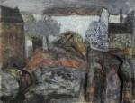 Abriß und Neubau in der Frankfurter Allee, Mischtechnik, 1987