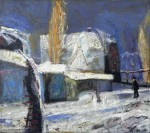 Am Dom, Öl/Hartfaserplatte, 1995