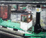 Im Humboldthafen I, Öl/Leinwand, 1993