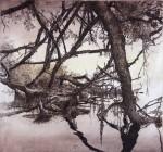 Sturmende, Radierung, aquarelliert, 1986